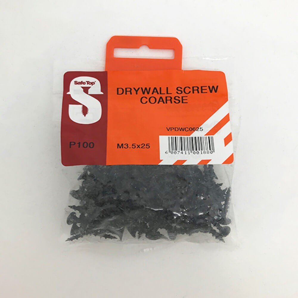 Value Pack Drywall Screws Course M3.5 X 25mm Quantity:100