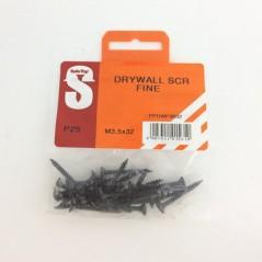 Pre Pack Drywall Screws Fine M3.5 X 32mm Quantity:25