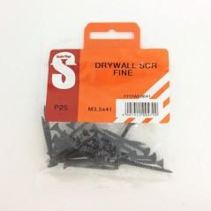 Pre Pack Drywall Screws Fine M3.5 X 41mm Quantity:25