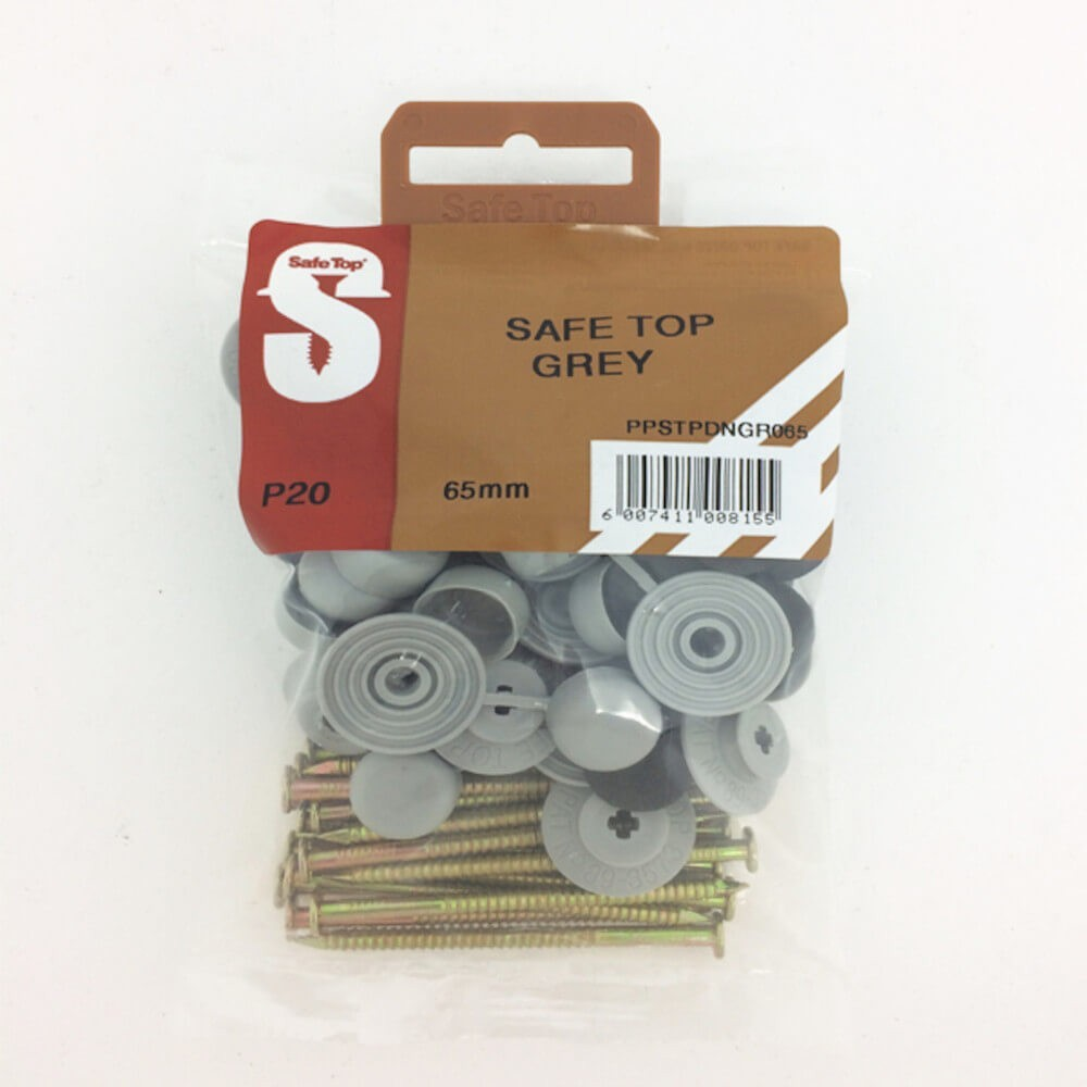 Pre Pack Safetop Grey 65mm Quantity:20