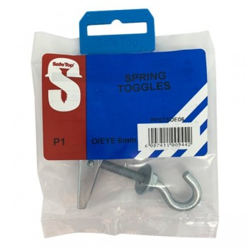 Pre Pack Spring Toggles Open Eye 6mm Quantity:1