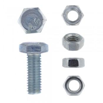 Eureka Set Screw & Nut Galvanised 6x16mm Quantity:20