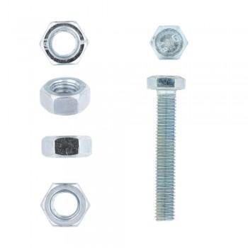 Eureka Set Screw & Nut Galvanised 8x50mm Quantity:4