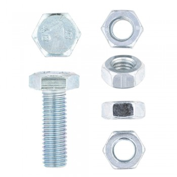Eureka Set Screw & Nut Galvanised 10x30mm Quantity:8