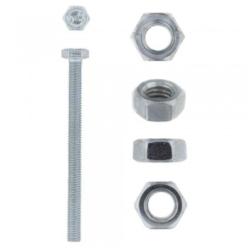 Eureka Set Screw & Nut Galvanised 6x75mm Quantity:4