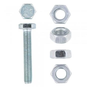 Eureka Set Screw & Nut Galvanised 10x60mm Quantity:10