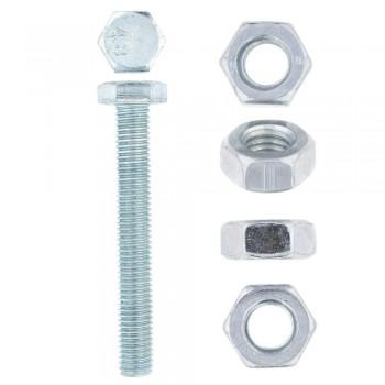 Eureka Set Screw & Nut Galvanised 10x75mm Quantity:8