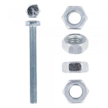 Eureka Set Screw & Nut Galvanised 10x100mm Quantity:6