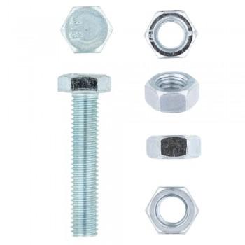 Eureka Set Screw & Nut Galvanised 8x40mm Quantity:10