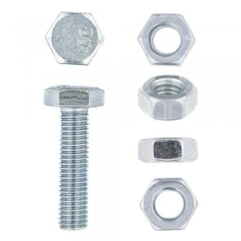 Eureka Set Screw & Nut Galvanised 10x40mm Quantity:6