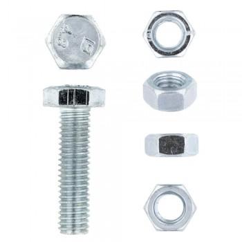 Eureka Set Screw & Nut Galvanised 8x30mm Quantity:12