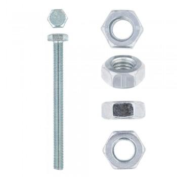 Eureka Set Screw & Nut Galvanised 10x120mm Quantity:6