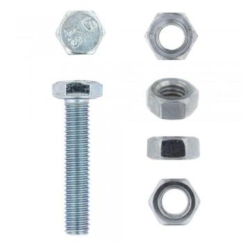 Eureka Set Screw & Nut Galvanised 6x30mm Quantity:8