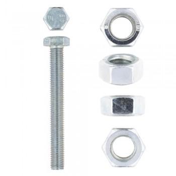 Eureka Set Screw & Nut Galvanised 12x100mm Quantity:4
