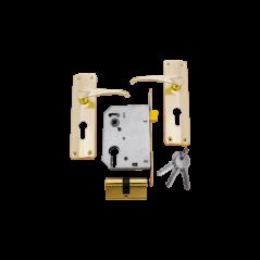 Economax Brass Plated Cylinder Lockset