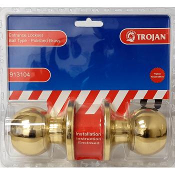 3100 Cylindrical Lockset Brass Plated