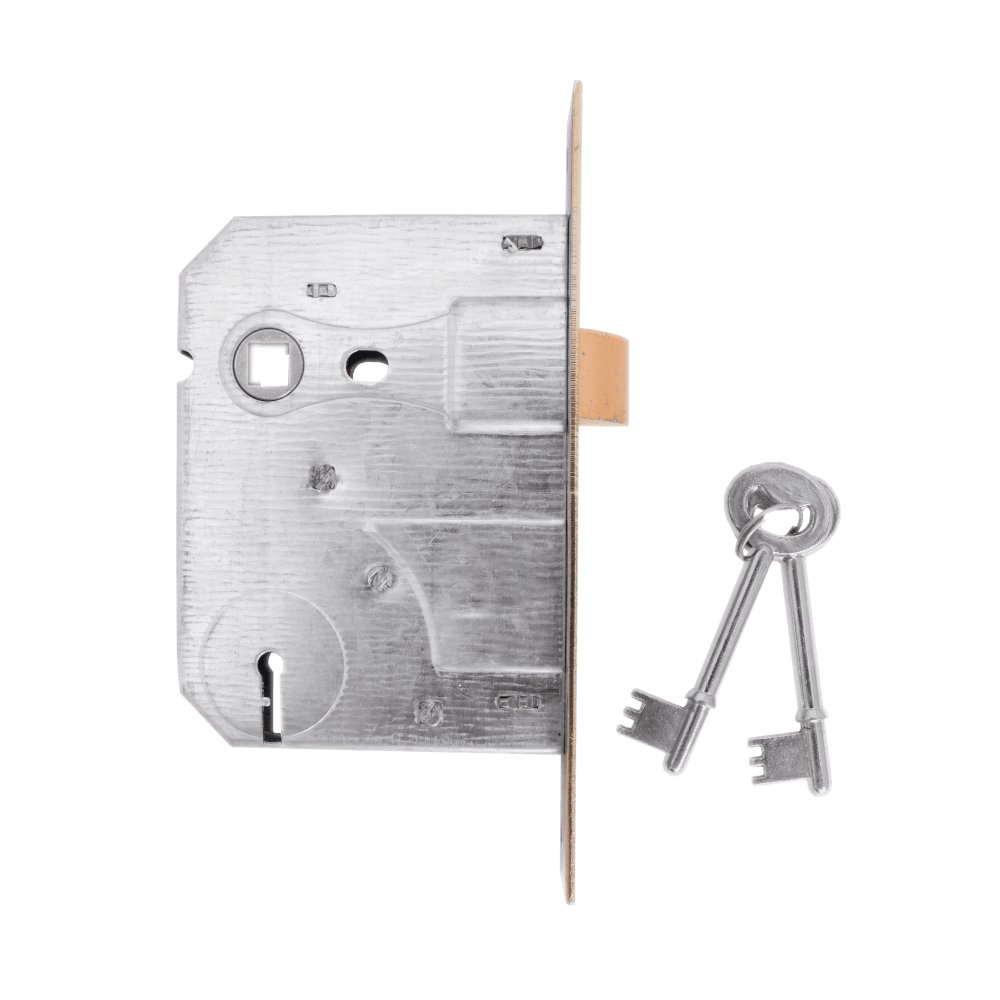 2 Lever Sabs Mortise Lock Insert Brass Plated