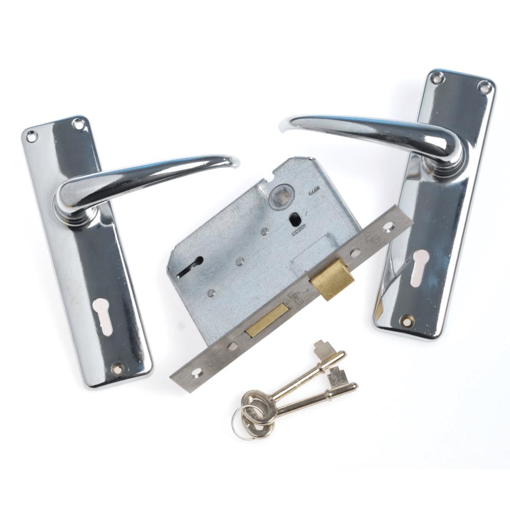 Mortise Lockset 2 Lever Silver Series