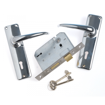 Mortise Lockset 3 Lever Silver Series