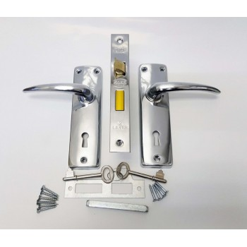 2 Lever Contractor Silver Sabs Mortise Lockset