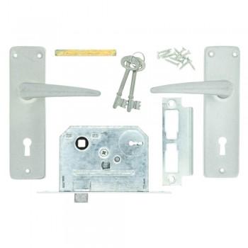 Fort Knox Satin Chrome 2-lever Handle Quantity:1