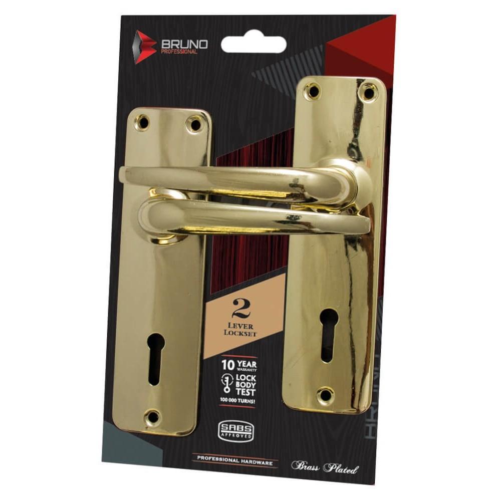 Mortise Lockset Sabs Brass 2 L Bruno