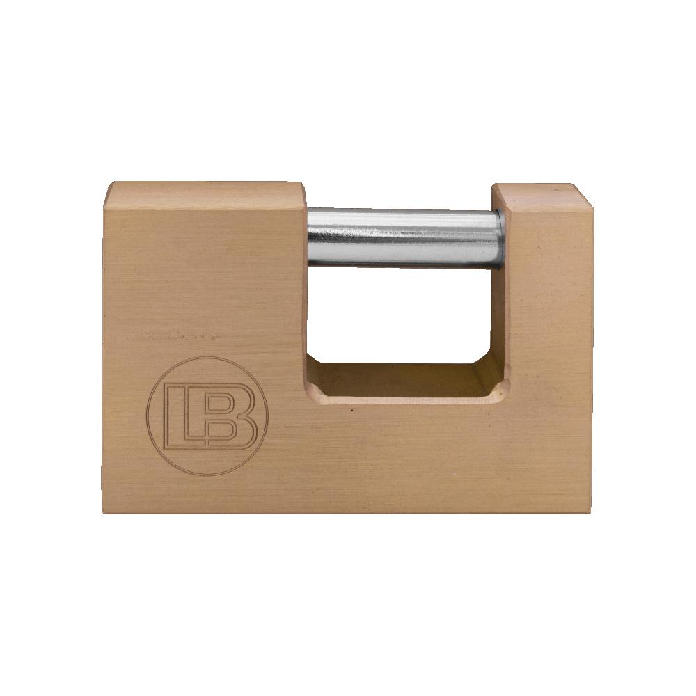 Insurance 60mm Brass Padlock Rectangular