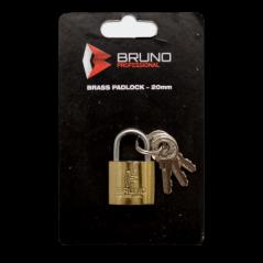Brass Padlock 25mm Bruno Blister