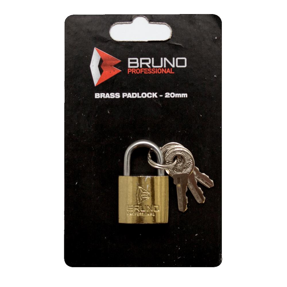 Brass Padlock 38mm Bruno Blister