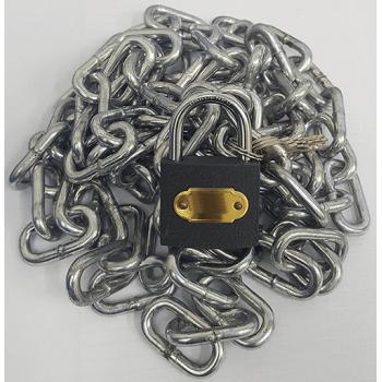 Galvanised Chain 4mm X 2m With Padlock 32mm