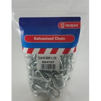 Galvanised Chain 5mm X 2m