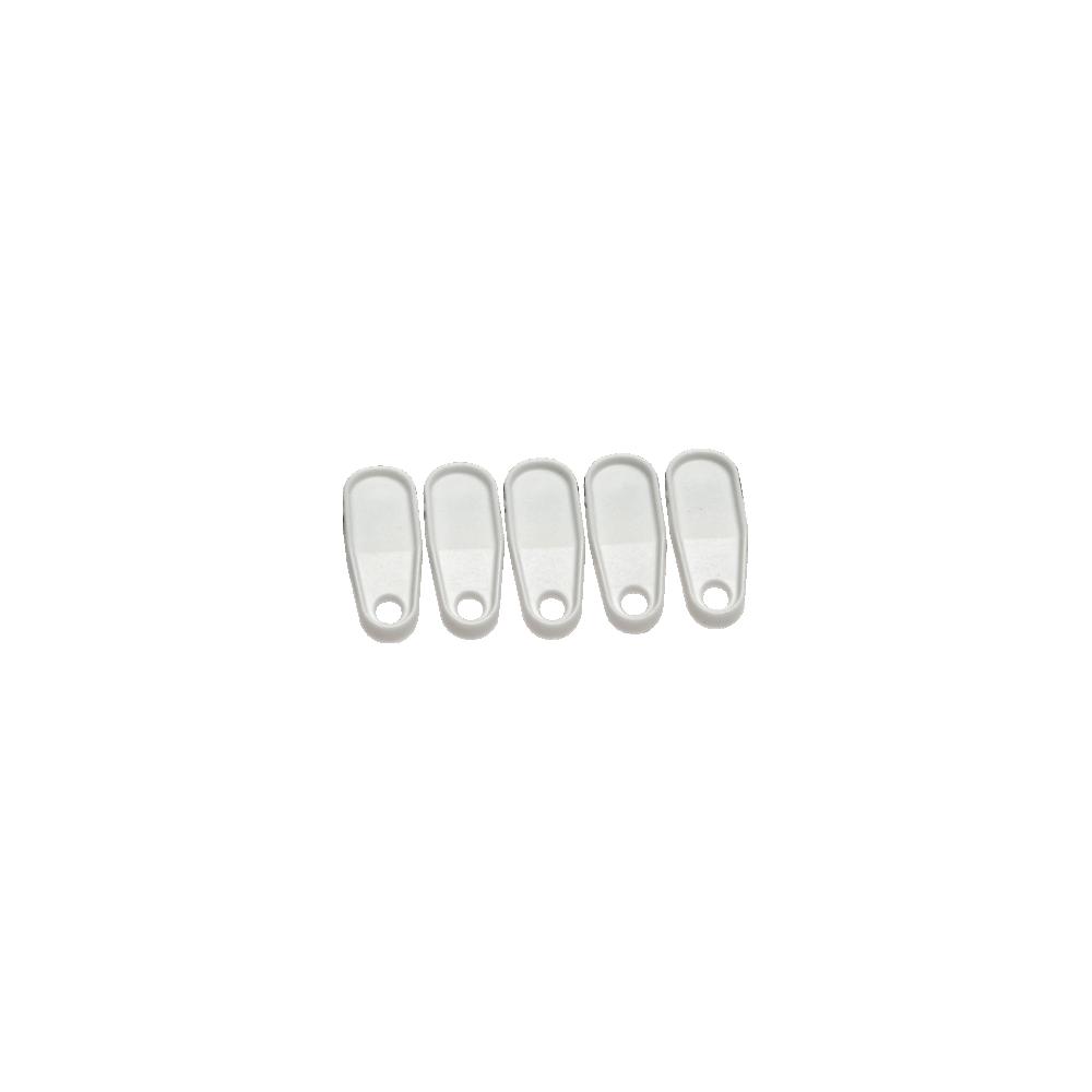 White Plastic Curtain Rail Gliders