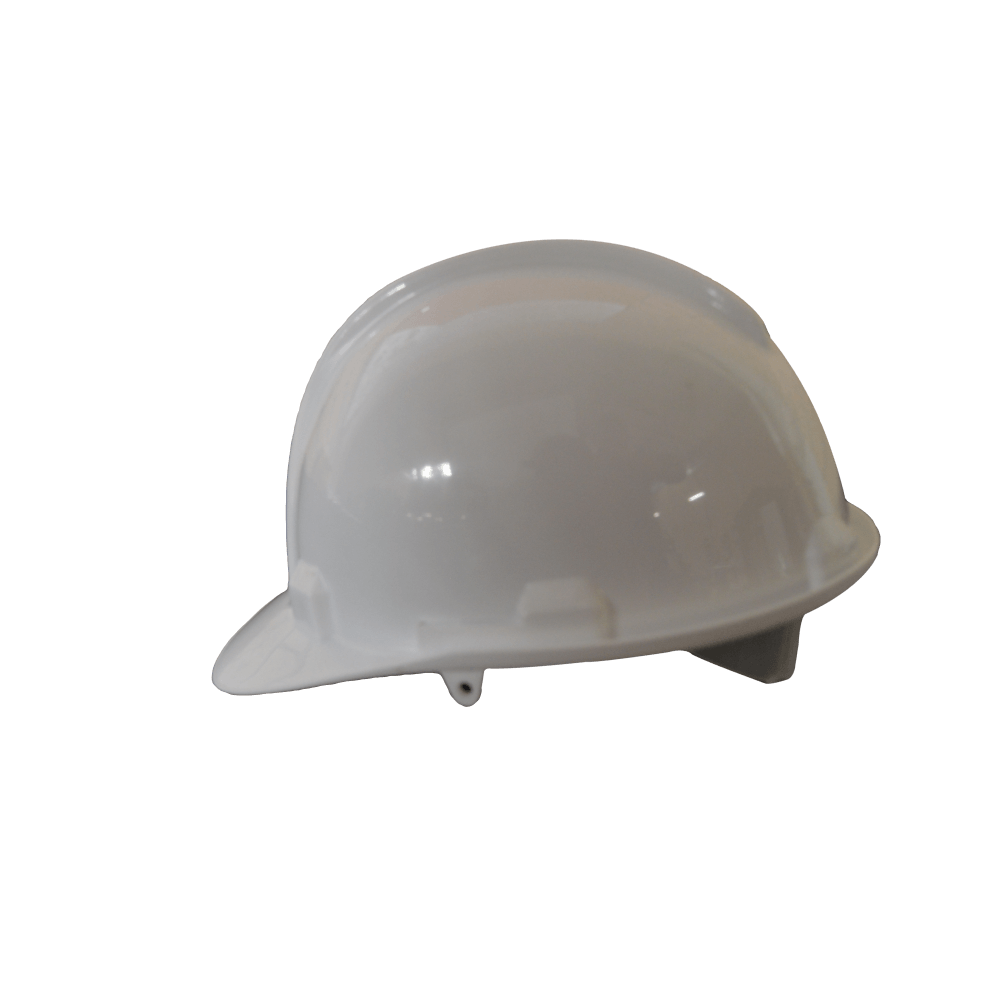 White Industrial Hard Hat With Open Vent