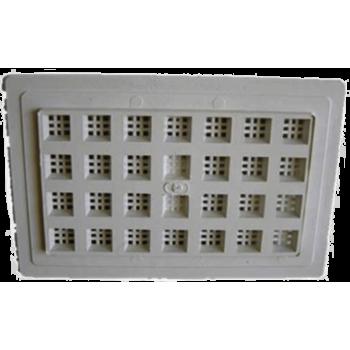 Air Vent Plastic White 230x150mm