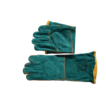 Gloves Green Double Lined 204mm