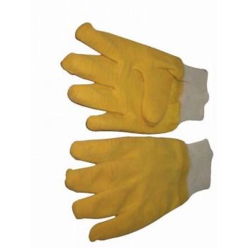 Gloves Latex Brick Yellow 50mm Knit Cuff