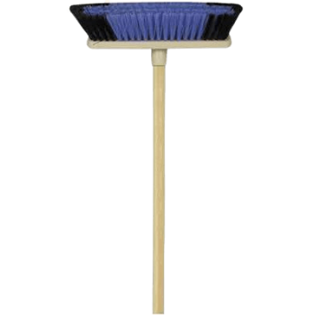 Plastic Back Soft Fibre Household Broom With Wooden Handle