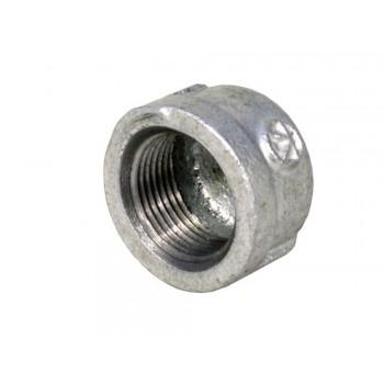 Galvanised Round Cap 15mm X 2