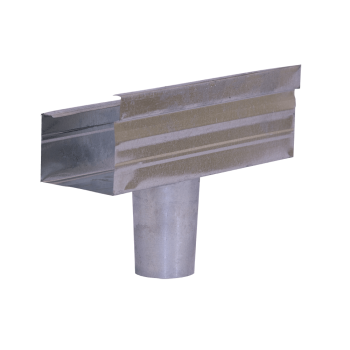 Gutter Stop End Square Round Outlet Galvanised