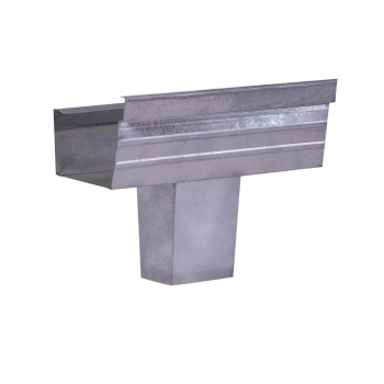 Gutter Square Stop End Square Outlet Galvanised