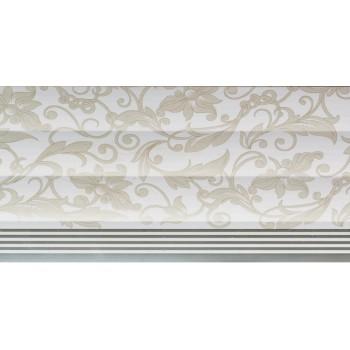 Pvc Ceiling Curve Floral Stripe