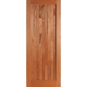 Wooden Door Mixed Timber Frame & Ledge Open Back