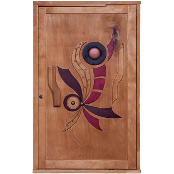 Door Wood Wild Flower Pivot Set