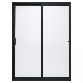Sliding Door Aluminium In Charcoal 2.4m