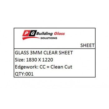 Glass 3mm Clear 1830x1220