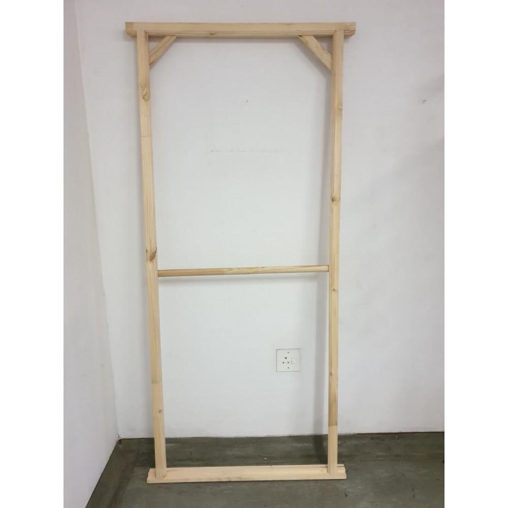 Doorframe Pine 76x76 Unassembled