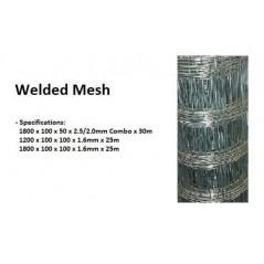 Welded Mesh 1.8m X 100mm X 50mm X 2/2.5mmx30m