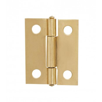 38mm Steel Butt Hinge Brass Plated With Screws