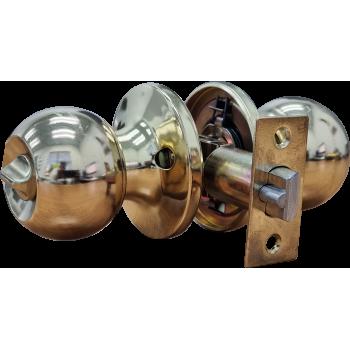Cylindrical Lockset Brass Plated