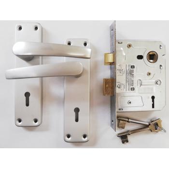 """3 Lever Sabs Aluminium 6"""" Handle Lockset"""
